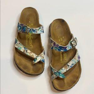 Birkenstock Blue Floral Papillio Sandal 38